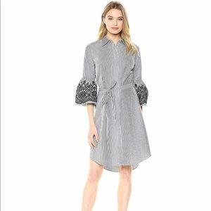 Calvin Klein Shirt Dress with Bell Sleeves